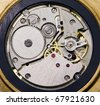 The mechanism of hours - stock photo