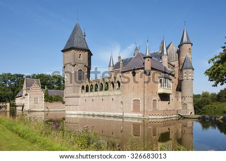 The Medieval Castle of Heeswijk, province Noord-Brabant, the Netherlands - stock photo