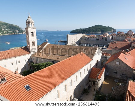 The medieval Croatian city of Dubrovnik - stock photo