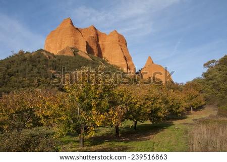 The Medulas, World Heritage site, Spain - stock photo
