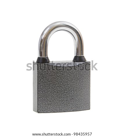 The metal lock isolated on white background - stock photo