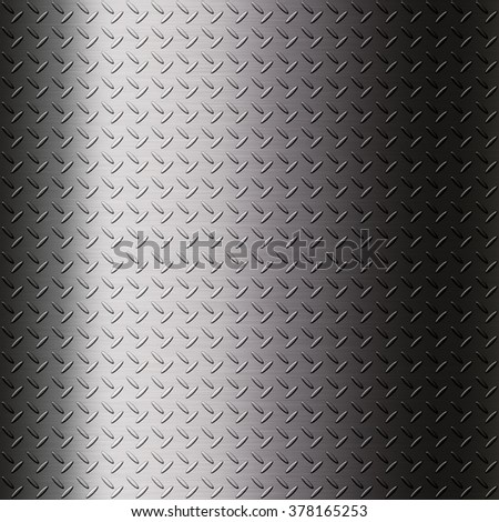 The metalic checker plate surface background for creative work - stock photo