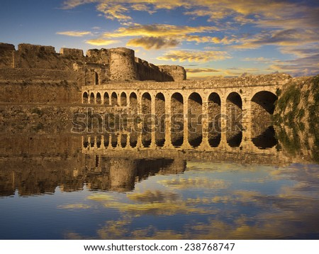 The Methoni Venetian Fortress in the Peloponnese, Messenia, Greece - stock photo