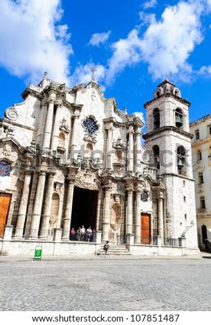 the metropolitan cathedral of Havana, Cuba - stock photo