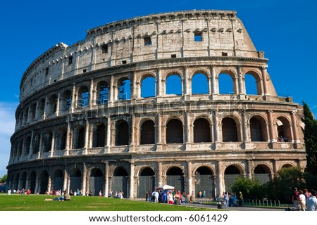The mighty Colosseum in Rome - stock photo