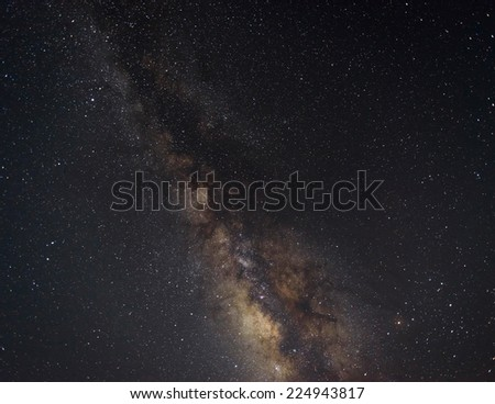 The Milky Way by a dark clear night - stock photo