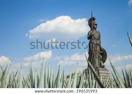 The Minerva monument entry to the city of Gudalajara, Jalisco, Mexico. - stock photo