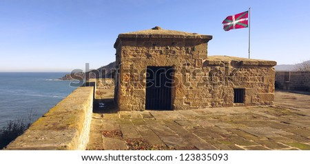 The Mirador Battery  Or the San Telmo Bastion, is the most important gate to the military enceinte of Mount Urgull. - stock photo