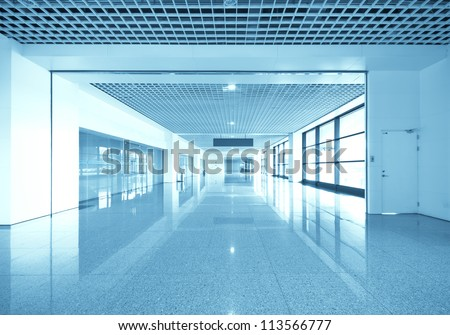 The modern airport interior architecture - stock photo