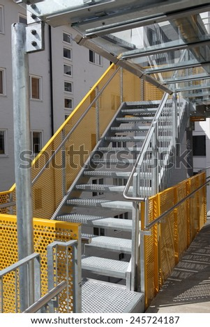 The modern fire escape - stock photo