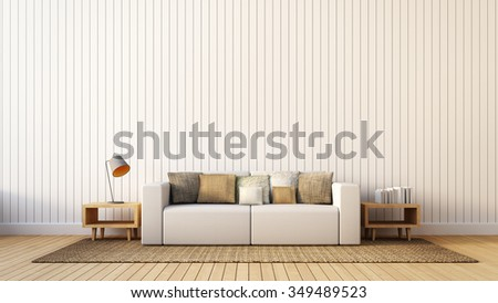 The modern interior of Living Area and Soft Sofa / 3D render image  - stock photo