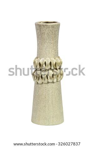 The modern vase isolated on white background - stock photo