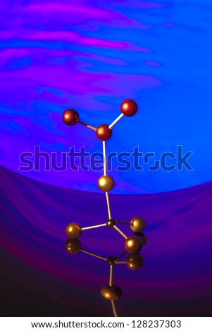 The molecules in the abstract - stock photo