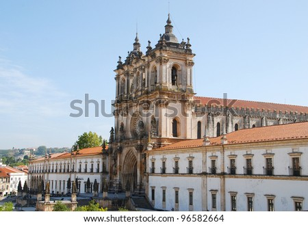 The Monastery of Alcobaca is a medieval monastery in Portugal. - stock photo