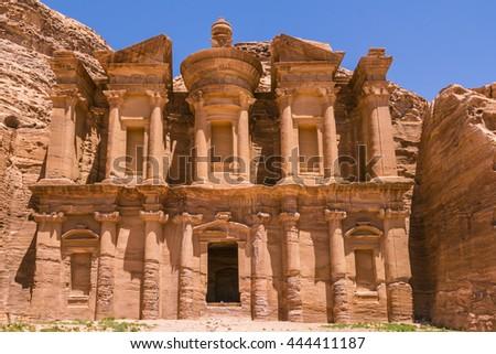 The Monastery - Petra, Jordan - stock photo