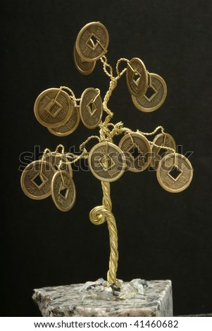 The monetary tree, talisman, brings success in the finance - stock photo