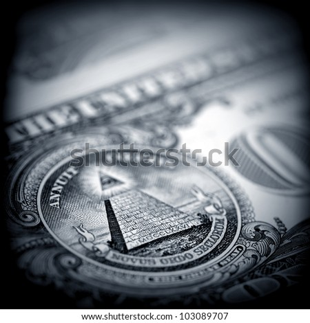 The money American dollars. Bundle of bank notes - stock photo