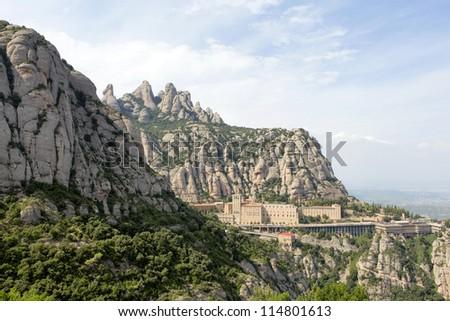 The Montserrat abbey, Spain - stock photo