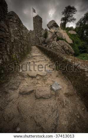 The Moorish Castle in Sintra - stock photo