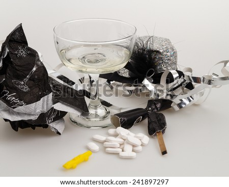 The morning after the New Years party - stock photo