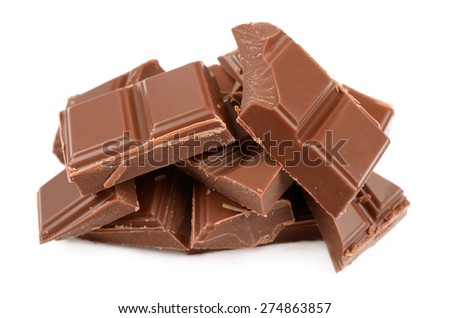 The most tasty chocolate - stock photo