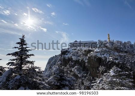 The mountain sunshine - stock photo