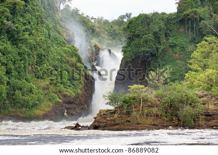 the Murchison Falls in Uganda (Africa) - stock photo