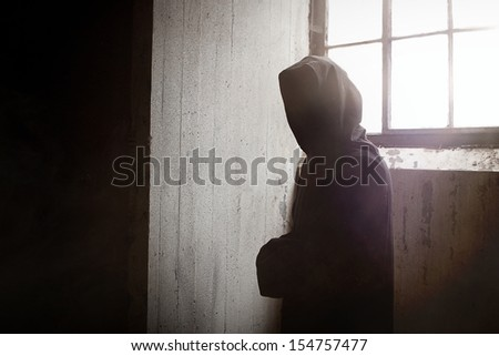 The Mysterious and Scary Reaper Staring at You - stock photo