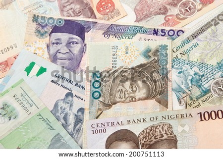 The naira is the currency of Nigeria. - stock photo