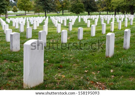 The national cemetery at Washington DC , USA - stock photo
