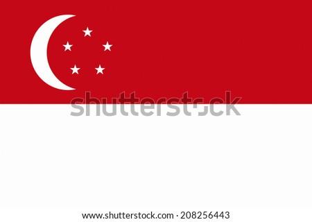 The National Flag Of Singapore - stock photo