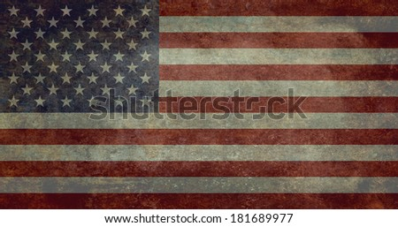 "The national flag of the United States of America - Authentic ratio 10:19 ""G-spec"" (for ""government specification"") Scale.  - stock photo"