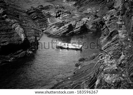 the national park the Cinque Terre. Liguria, Italy - stock photo