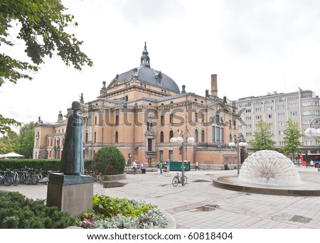 The National Theater in central Oslo, Norway. - stock photo