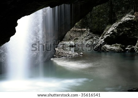 the natural arch, gold coast,queensland,australia - stock photo