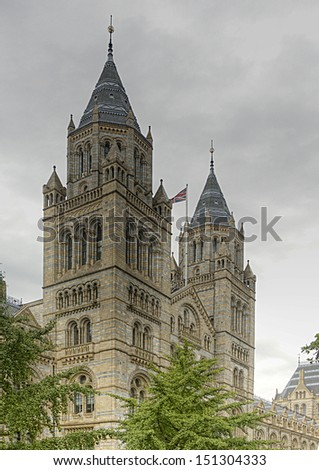 The Natural History Museum in London, UK - stock photo