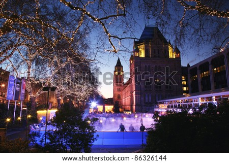 The Natural History Museum is one of the most favorite museum for tourist in London. - stock photo