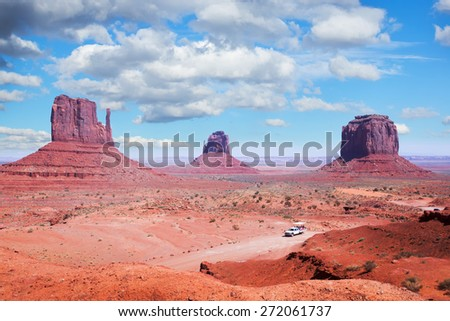 The Navajo Nation's Monument Valley Park,  Utah - stock photo