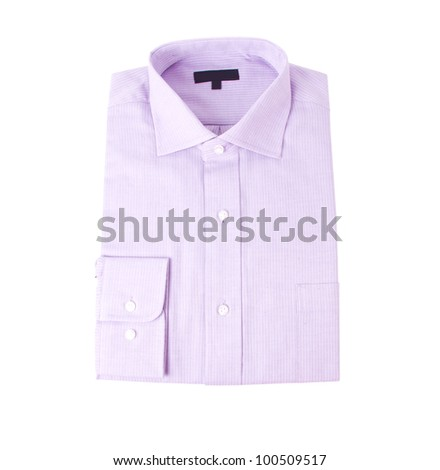 The new blue shirt isolated on white background - stock photo