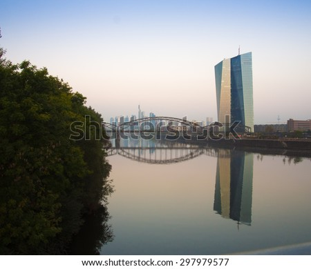 The new building of the European Central Bank in Frankfurt, Germany - stock photo