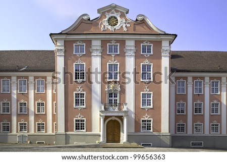 The new castle in Meersburg at the Lake Constance in South Germany - stock photo