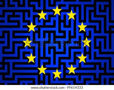 the new european flag - stock photo