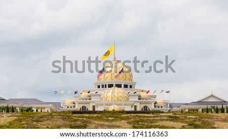 The new Istana Negara, which is the royal residence of the Yang di-Pertuan Agong (supreme ruler) of Malaysia. The new palace was opened in 2011. - stock photo