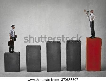 The new job - stock photo