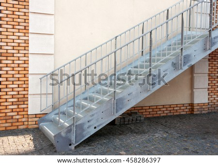 The new stairway - stock photo