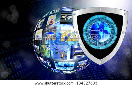 The newest Internet technology.Connection.Cybersecurity - stock photo