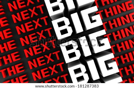 The next big thing coming soon announcement background 3d illustration - stock photo
