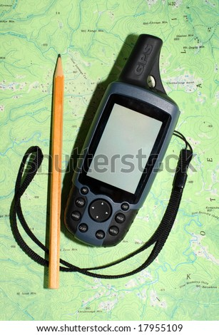 The nice mobile GPS receiver. - stock photo