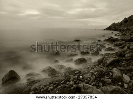 The night sea - stock photo