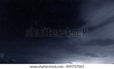The night sky - stock photo